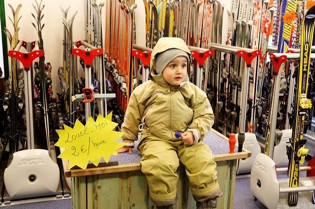 Sasha a pris sa première leçon de ski…..