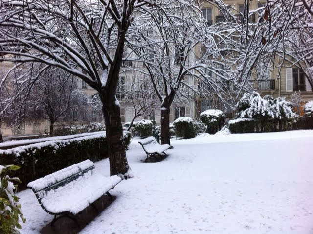 Neige au square Cavaillé-Coll !